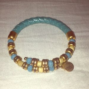 Alex and Ani Leather/Beaded Wrap